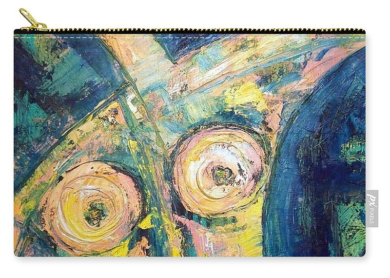 Nude Carry-all Pouch featuring the painting Bell Bottom Blues by Kathy Augustine
