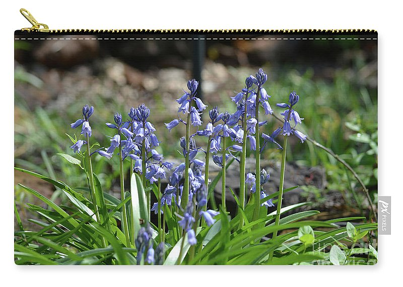 Bell Flowers Carry-all Pouch featuring the photograph Bell Flowers by Ruth Housley