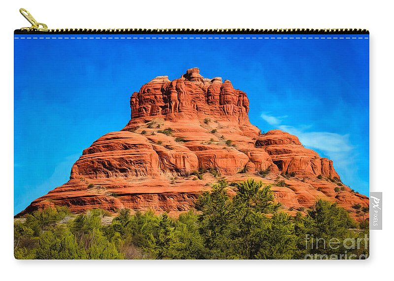 Arizona Carry-all Pouch featuring the photograph Bell Rock Tower by Jon Burch Photography