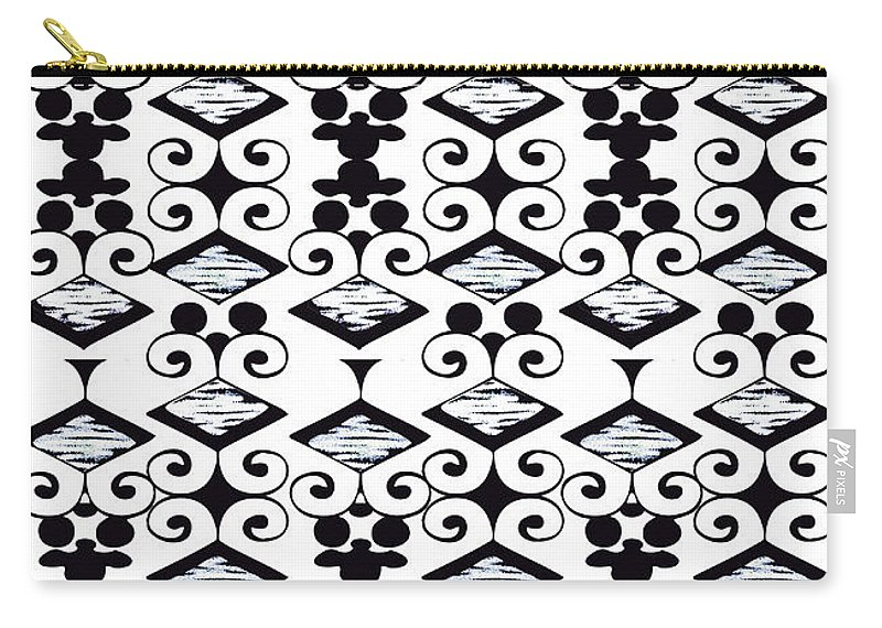 Black And White Carry-all Pouch featuring the digital art Bella 6 by Ceil Diskin