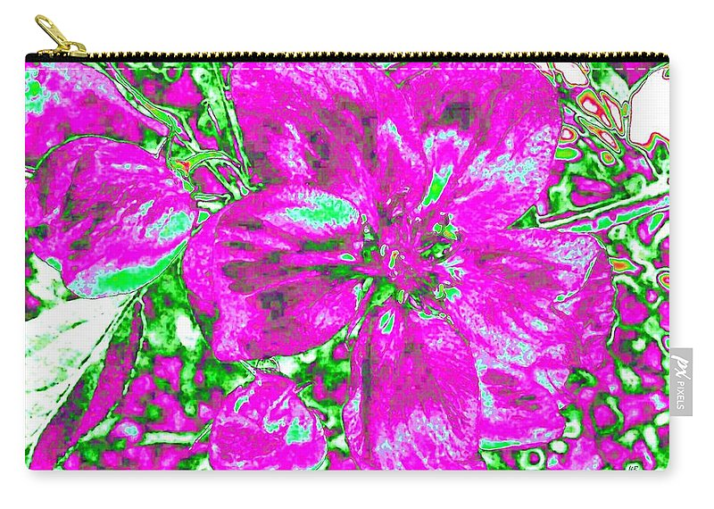 Bella Flora Carry-all Pouch featuring the digital art Bella Flora 2 by Will Borden