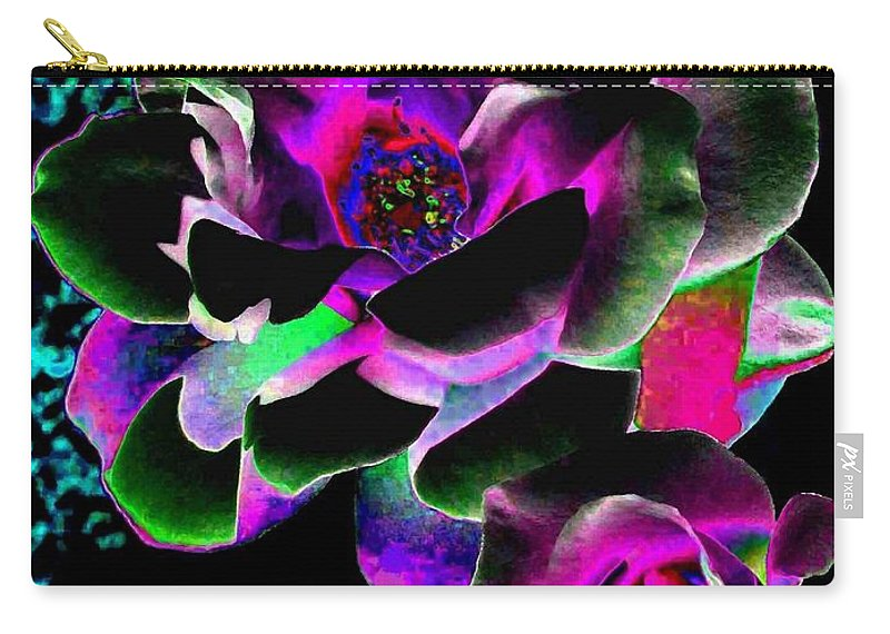 Bella Flora Carry-all Pouch featuring the digital art Bella Flora 8 by Will Borden