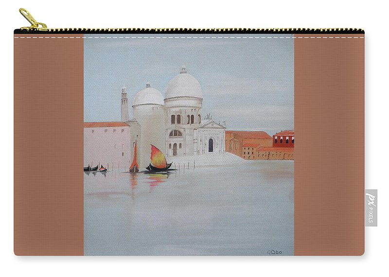Venice Carry-all Pouch featuring the pastel Bella Italia by Gordon Ogilvie