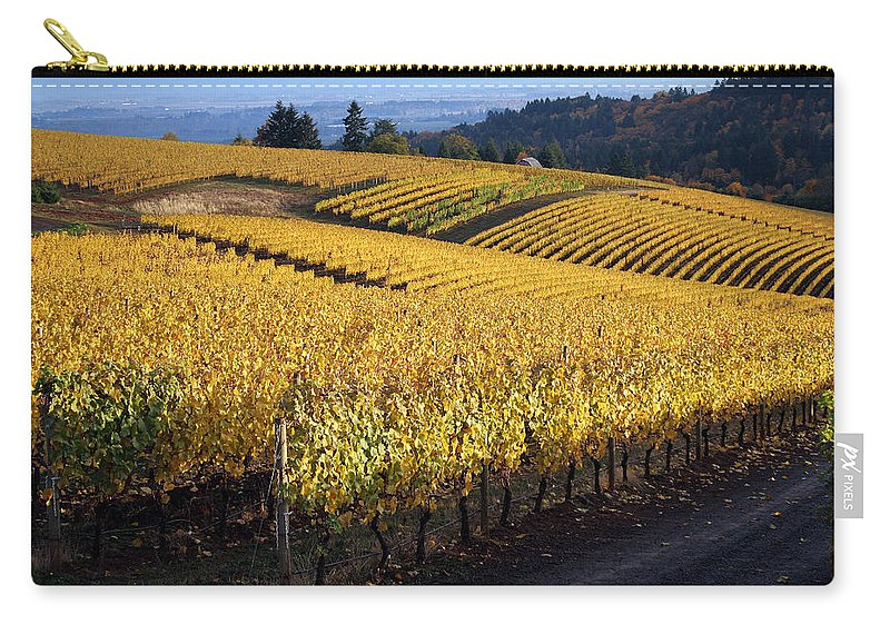 Vineyard Carry-all Pouch featuring the photograph Bella Vida Vineyard 3 by Sherrie Triest