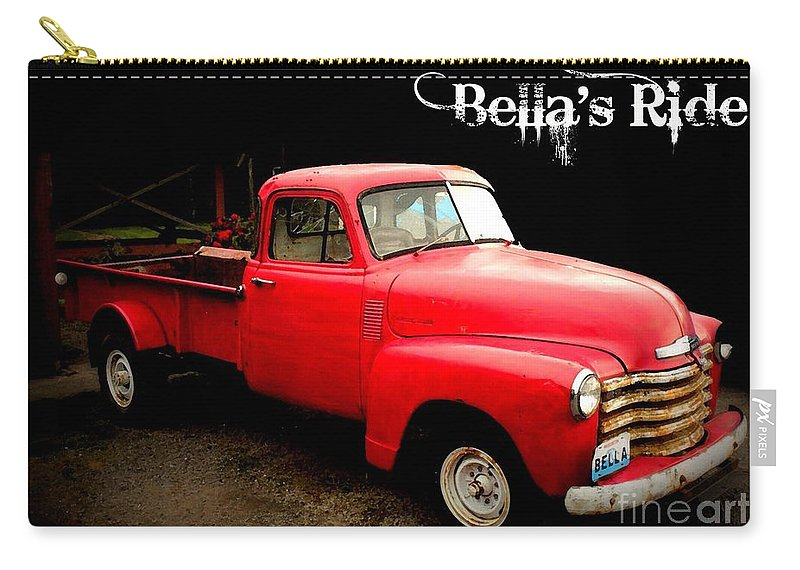 Bella Carry-all Pouch featuring the photograph Bella's Ride by Carol Groenen