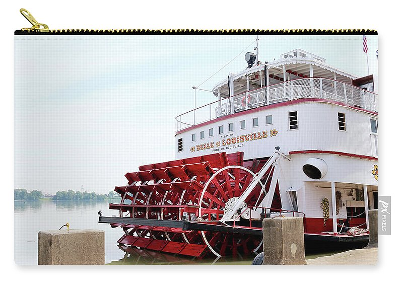 Belle Of Louisville Carry-all Pouch featuring the photograph Belle Of Louisville by Art Block Collections