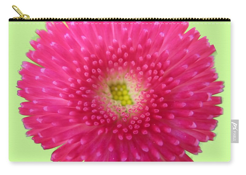 Wildflower Carry-all Pouch featuring the photograph Bellis Perennis by Valerie Anne Kelly