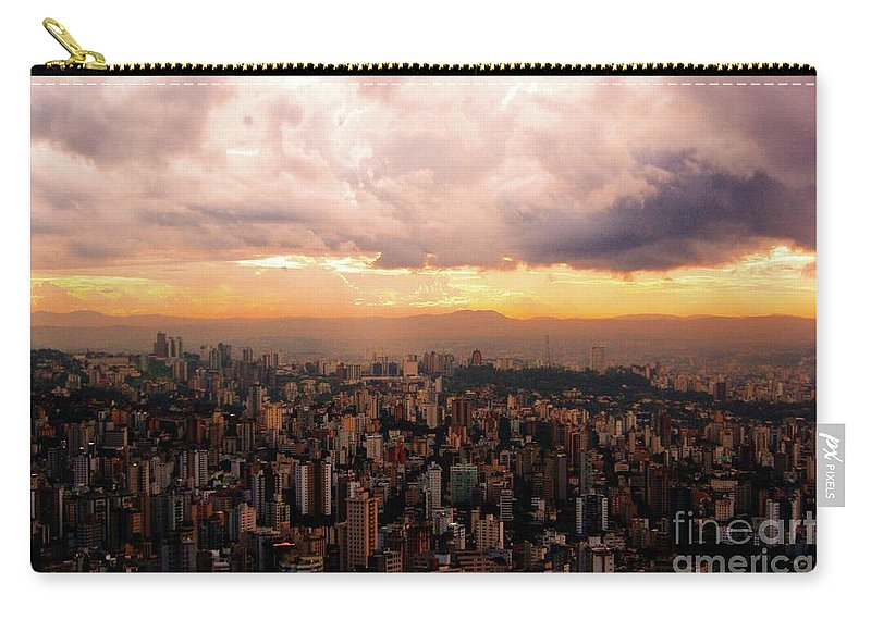 Belo Horizonte Carry-all Pouch featuring the photograph Belo Horizonte - The Cityscape From Above by Idan Badishi