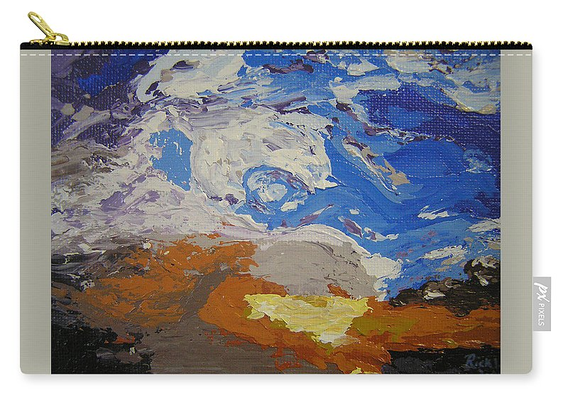 Sunset Carry-all Pouch featuring the painting Belonging by Ricklene Wren