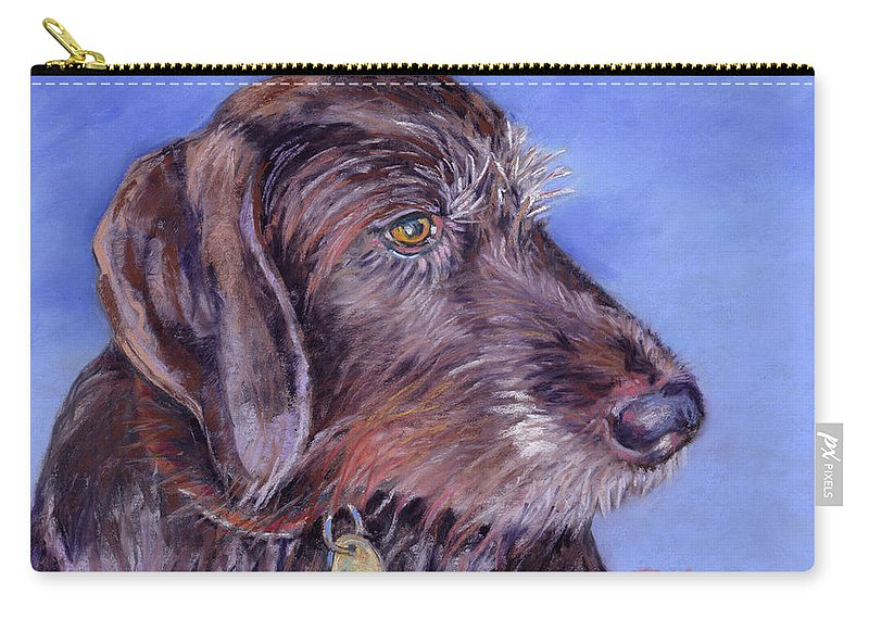 Canine Pet Portrait Carry-all Pouch featuring the painting Beloved Gina by Julie Maas