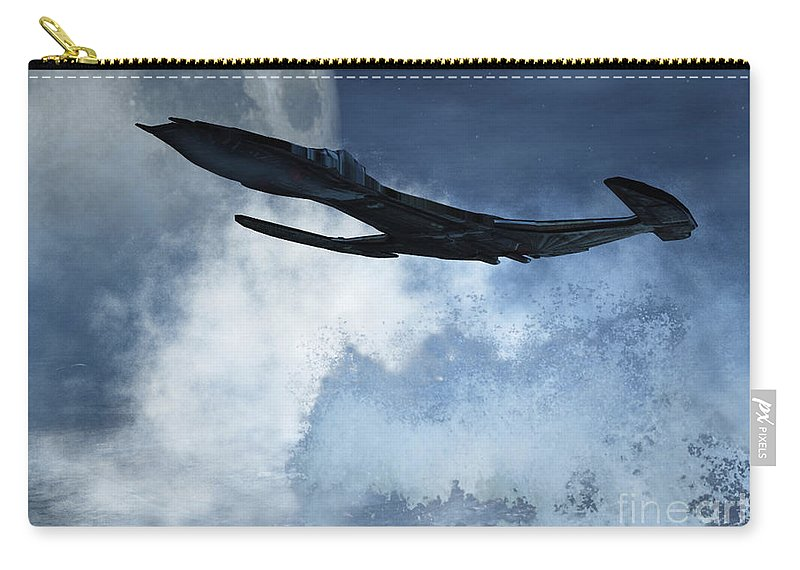 Flight Carry-all Pouch featuring the digital art Below Radar by Richard Rizzo