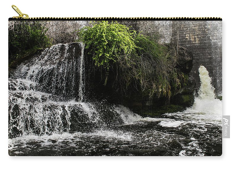 Water Carry-all Pouch featuring the photograph Below The Dam by Branden Kruis