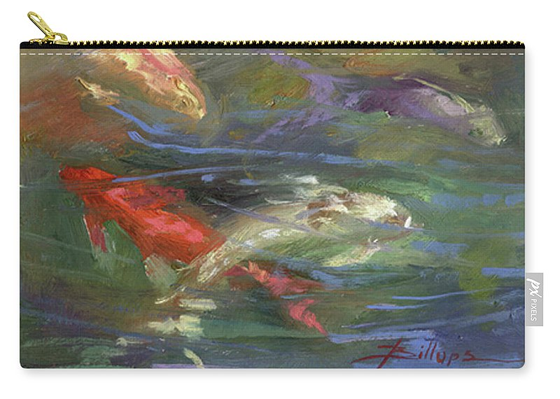 Plein Air Carry-all Pouch featuring the painting Below The Surface by Betty Jean Billups