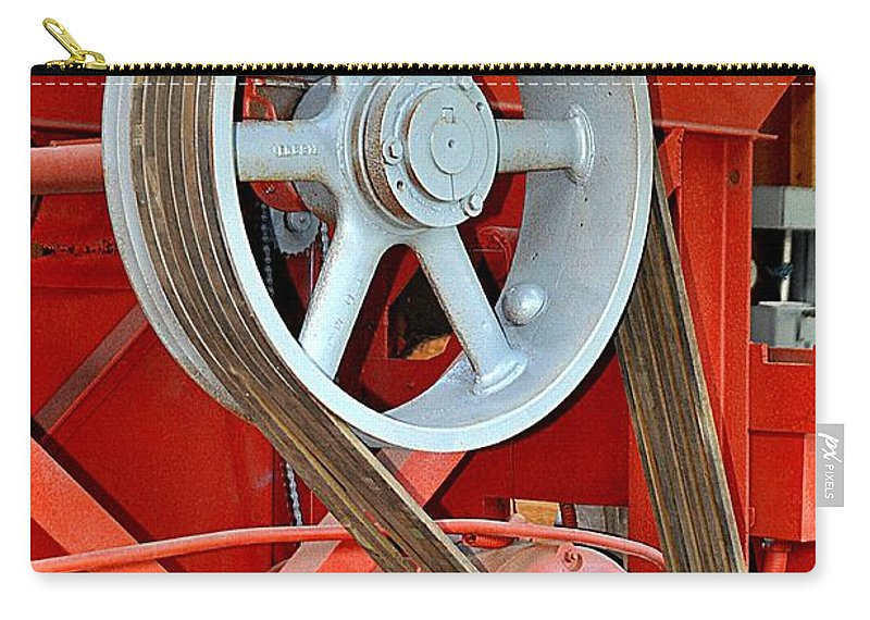 Machine Carry-all Pouch featuring the photograph Belt Drive by John Hughes