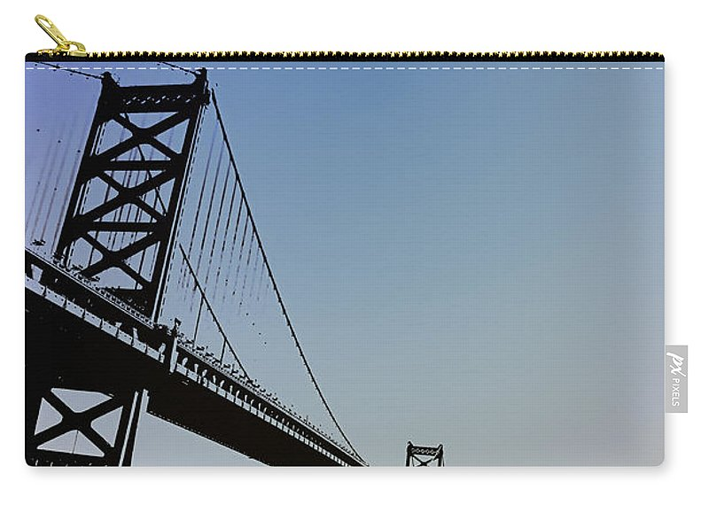 Philadelphia Carry-all Pouch featuring the photograph Ben Franklin Bridge by Bill Cannon