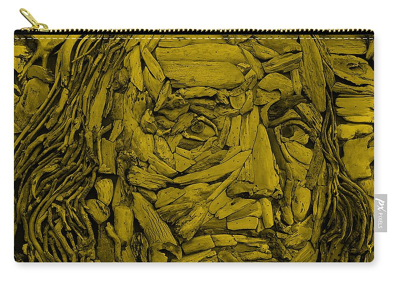 Ben Franklin Carry-all Pouch featuring the photograph Ben In Wood Orange by Rob Hans
