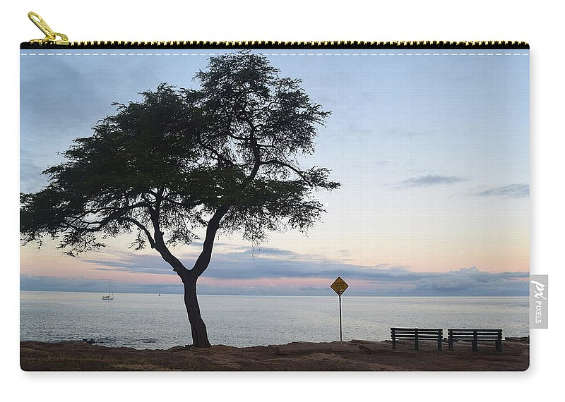 Sunrise Carry-all Pouch featuring the photograph Bench For 2 by Samantha Peel