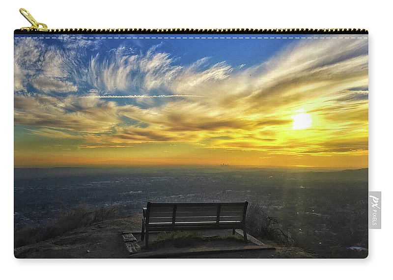 Bench Carry-all Pouch featuring the photograph Bench With A View by Braden Moran