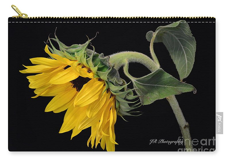 Bloom Carry-all Pouch featuring the photograph Bending Sunflower by Jeannie Rhode