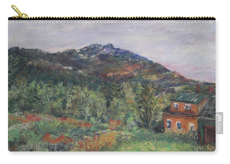 Mt. Carry-all Pouch featuring the pastel Beneath a Mighty Giant by Alicia Drakiotes