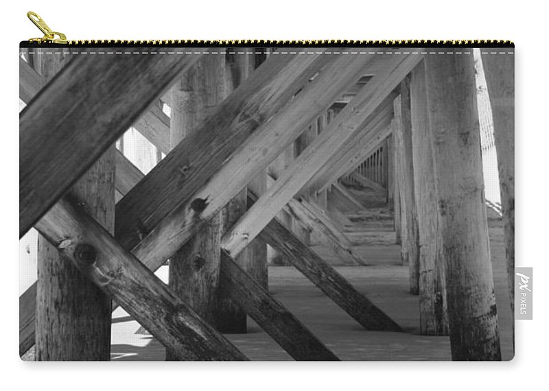 Carry-all Pouch featuring the photograph Beneath The Docks Day by Jamie Lynn
