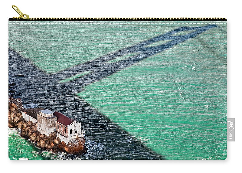 Golden Gate Bridge Carry-all Pouch featuring the photograph Beneath The Golden Gate by Dave Bowman