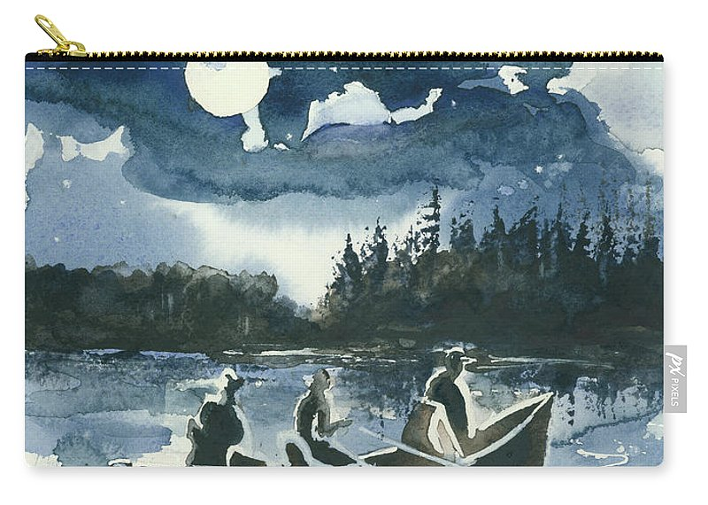 Watercolor Carry-all Pouch featuring the painting Beneath The Stars by Elisabeta Hermann