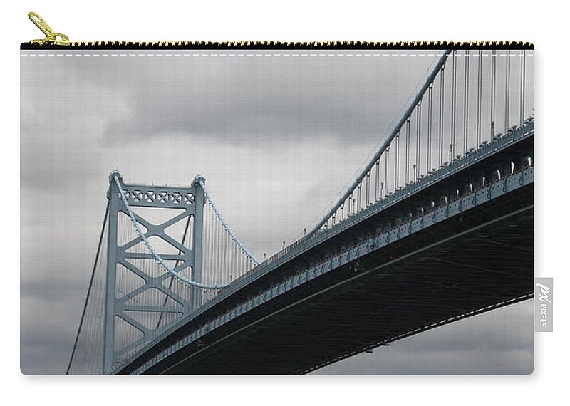 Bridge Carry-all Pouch featuring the photograph Benjamin Franklin Bridge Philadelphia by Christiane Schulze Art And Photography