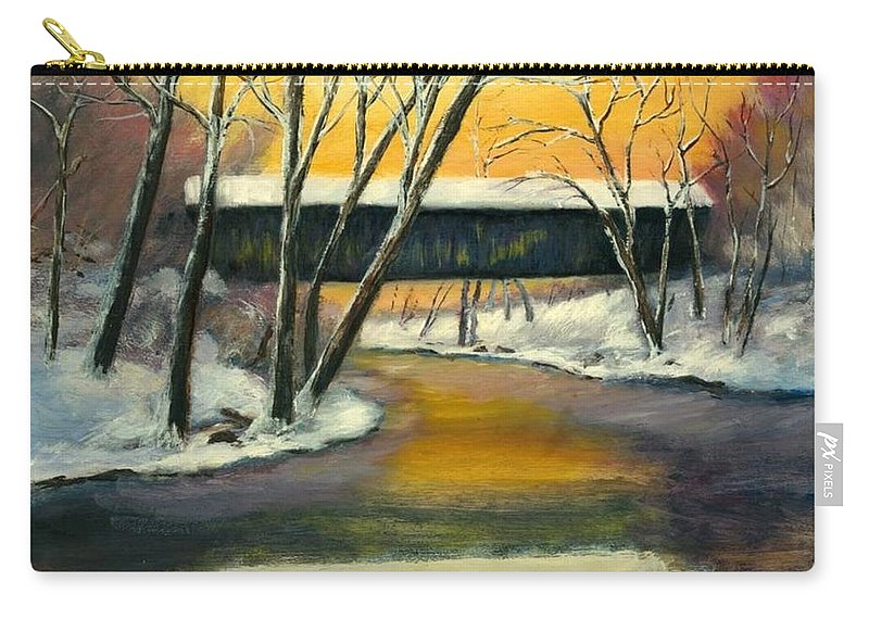 Kentucky Carry-all Pouch featuring the painting Bennett by Gail Kirtz