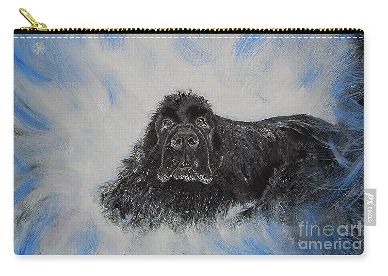 Dog Carry-all Pouch featuring the painting Bennies Love by Lisa Rose Musselwhite