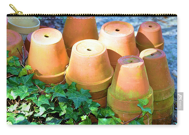Still Life Carry-all Pouch featuring the photograph Ben's Pots by Jan Amiss Photography