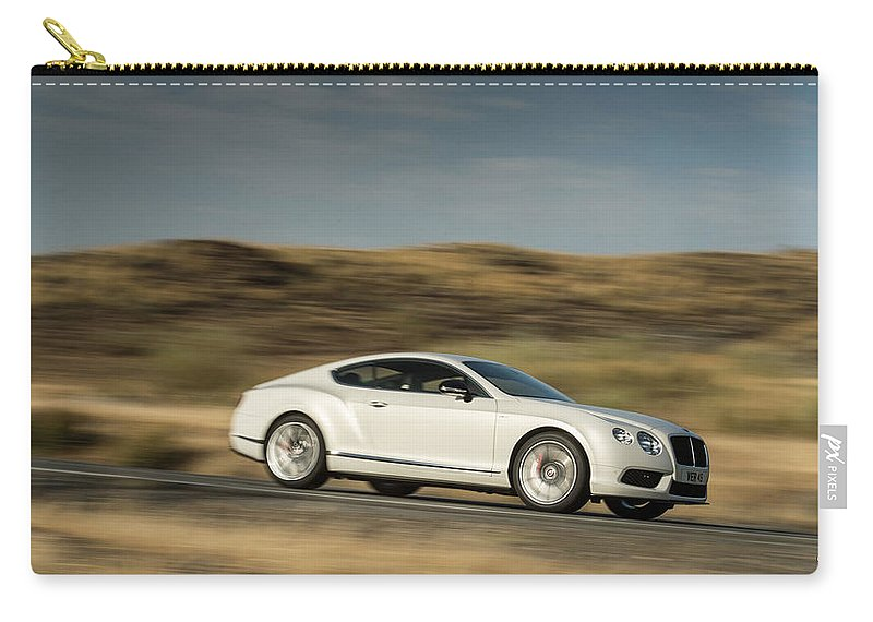 Bentley Continental Gt V8 Carry-all Pouch featuring the photograph Bentley Continental Gt V8 by Jackie Russo