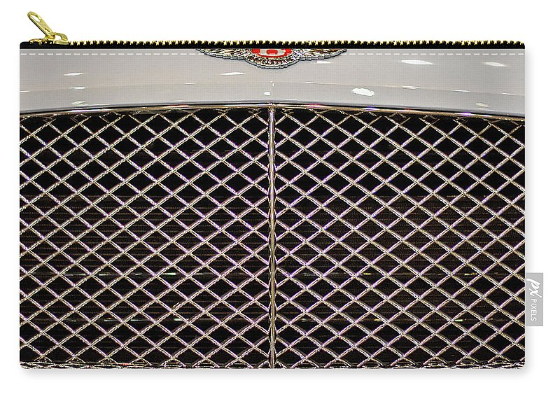 Bentley Carry-all Pouch featuring the photograph Bentley Grille And Insignia by Stuart Litoff