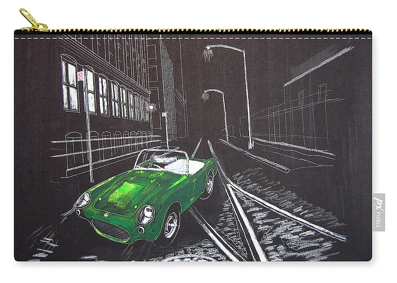 Berkley Carry-all Pouch featuring the painting Berkley Sports Car by Richard Le Page
