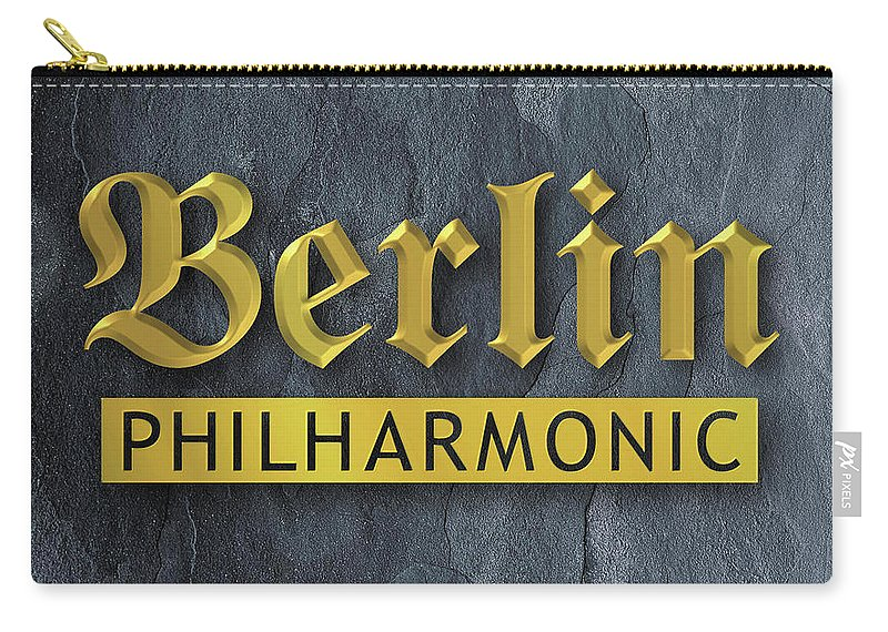 Lettering Carry-all Pouch featuring the digital art Berlin Philharmonic by Alan Steele