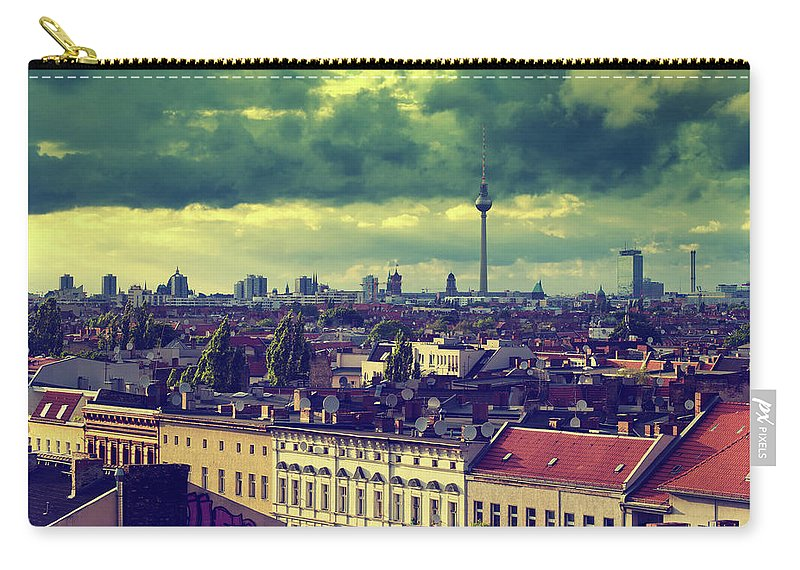 Berlin Carry-all Pouch featuring the photograph Berlin Roofscape by Alexander Voss