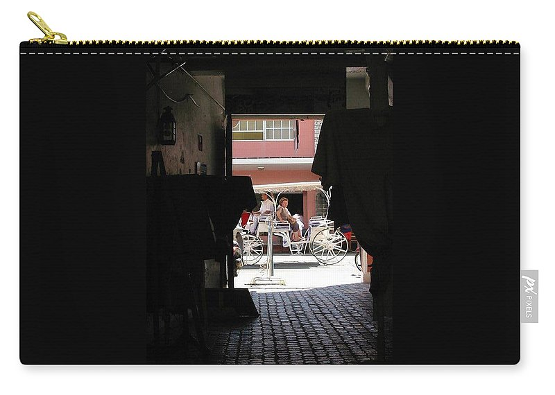 Bermuda Carry-all Pouch featuring the photograph Bermuda Carriage by Ian MacDonald