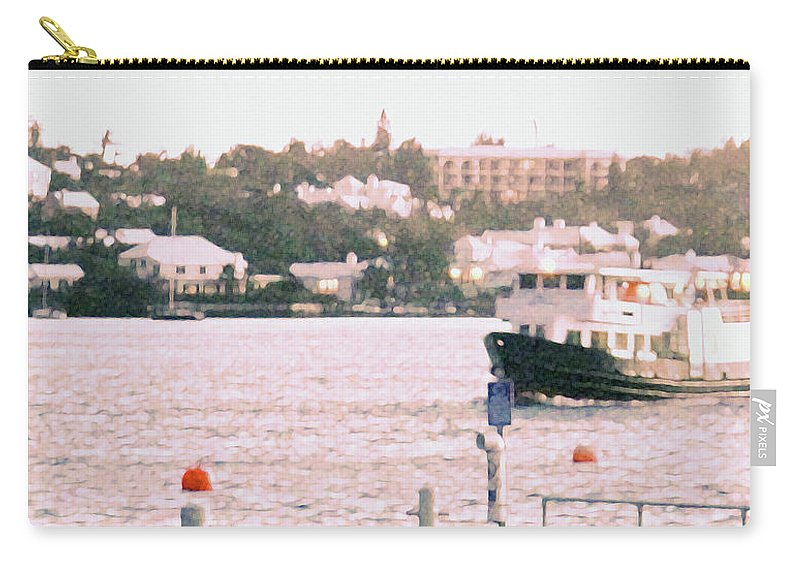 Hamilton Carry-all Pouch featuring the photograph Bermuda Ferry Arriving by Ian MacDonald