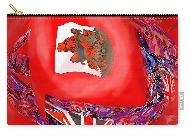 Abstract Carry-all Pouch featuring the photograph Bermuda Flags by Ian MacDonald