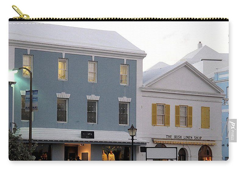 Bermuda Carry-all Pouch featuring the photograph Bermuda Front Street Two by Ian MacDonald
