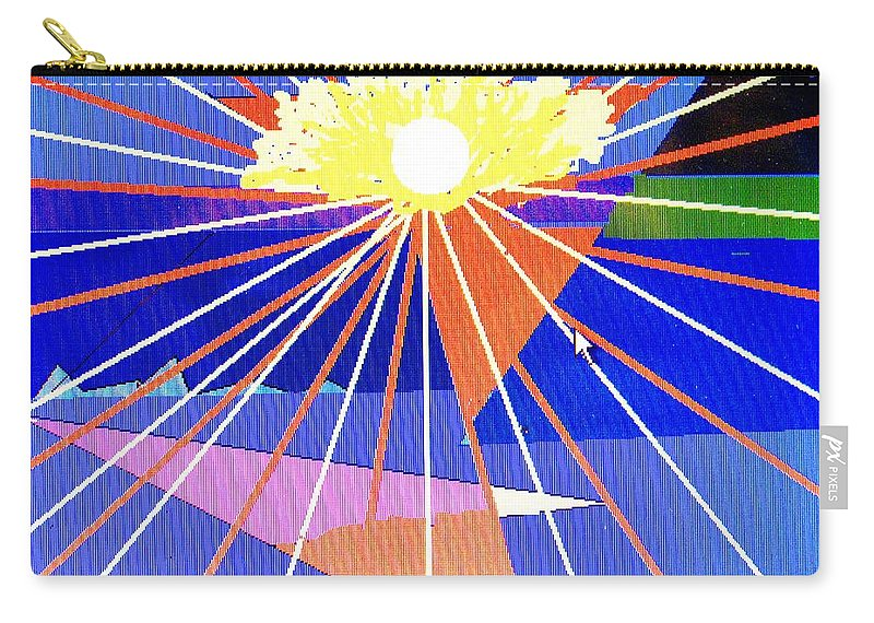 Sunset Carry-all Pouch featuring the digital art Bermuda Sunset by Ian MacDonald