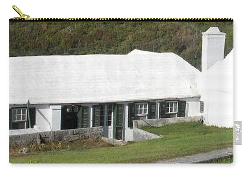 Bermuda Carry-all Pouch featuring the photograph Bermudian Centuries Old Cottage by Ian MacDonald