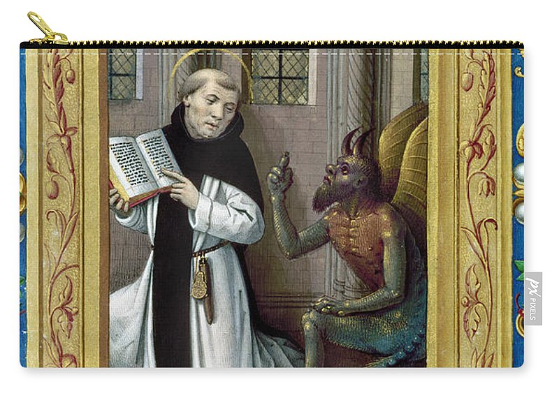 Aod Carry-all Pouch featuring the painting Bernard De Clairvaux by Granger