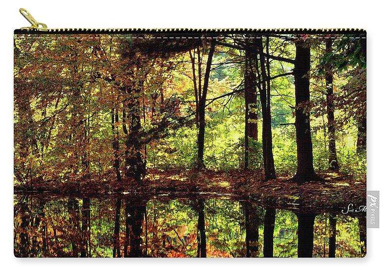 Bernharts Dam Carry-all Pouch featuring the photograph Bernharts Dam Fall 006 by Scott McAllister