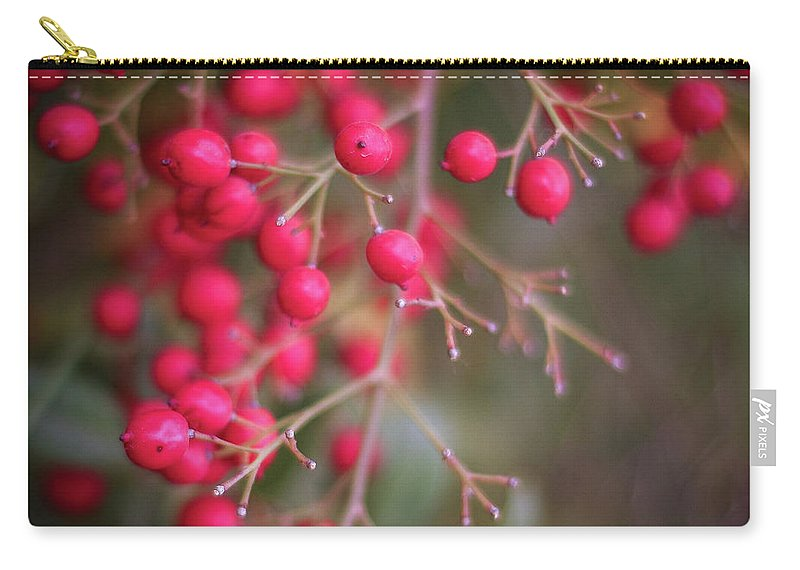 Red Berries Carry-all Pouch featuring the photograph Berries by Martina Schneeberg-Chrisien