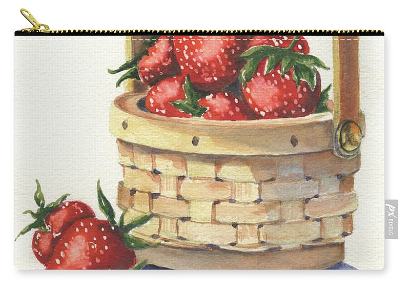 Berry Carry-all Pouch featuring the painting Berry Nice by Marsha Elliott