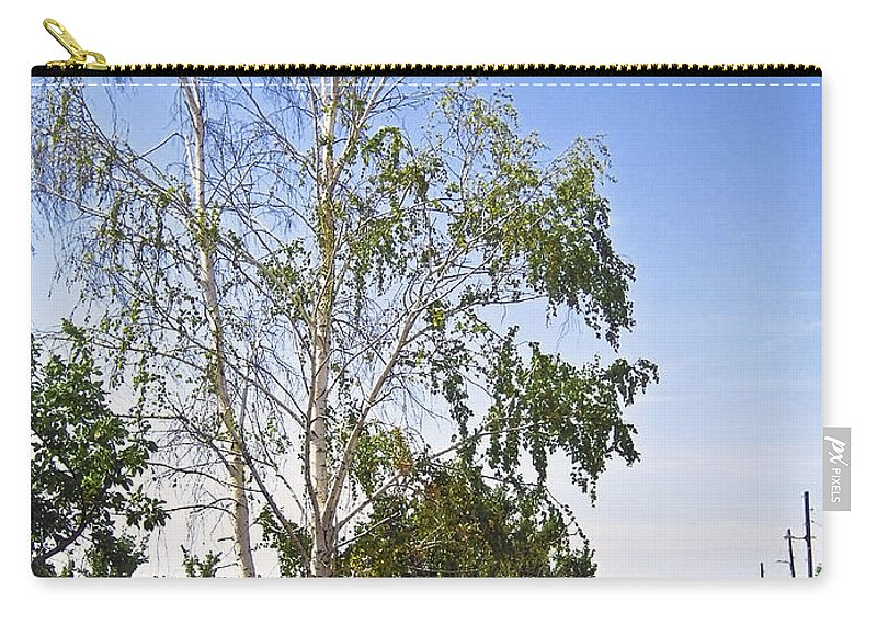 Birch Carry-all Pouch featuring the photograph Beside The Village Road by Svetlana Sewell