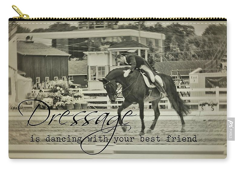 Horse Carry-all Pouch featuring the photograph Best Friend Quote by JAMART Photography
