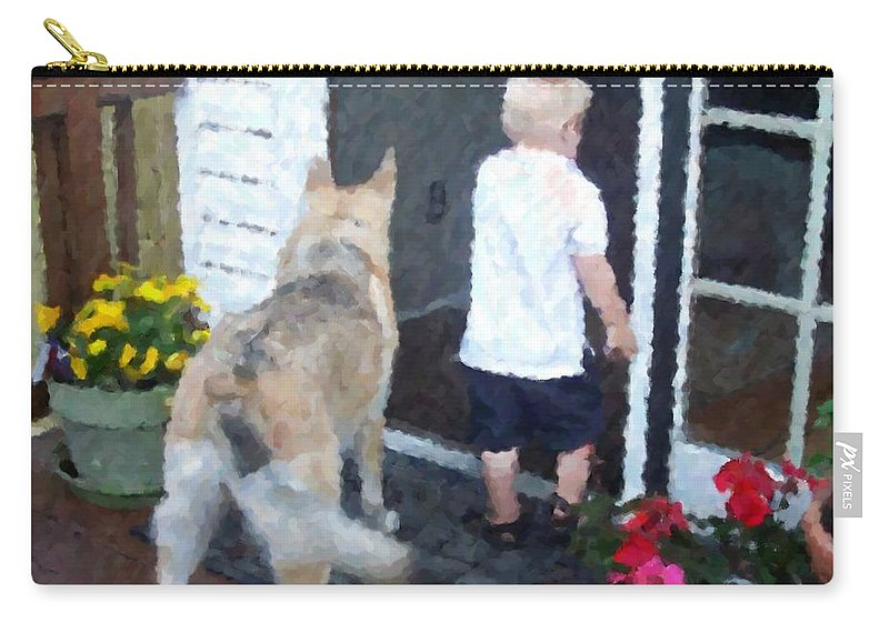 Dogs Carry-all Pouch featuring the photograph Best Friends by Debbi Granruth
