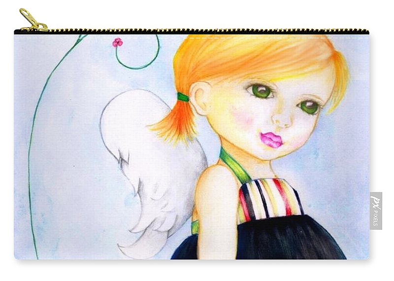 Children Carry-all Pouch featuring the digital art Best Friends by Monica Magallon